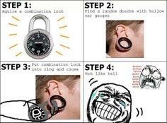 The combination earlobe prank!