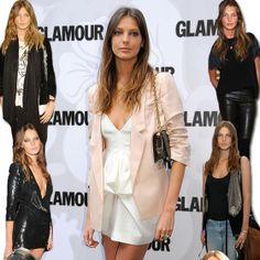 Daria Werbowy no tapete vermelho fa revista Glamour