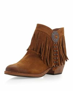 Sideney Fringe Ankle Boot, Whiskey by Sam Edelman at Neiman Marcus Last Call.