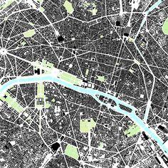 Paris figure ground plan