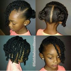 African american hair two strand twist. Love this little style, too cute
