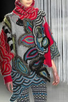 25611a58d Kenzo at Paris Fall 2008 (Details) Knit Fashion, Sweater Fashion, Freeform  Crochet