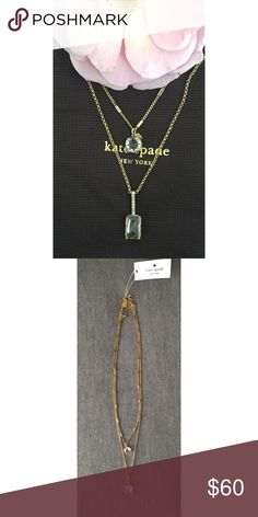 NWT Kate Spade Double Pendant Necklace Pretty little crystals in different sizes and shapes add interest and shine through the day and night! Simple enough for everyday but sparkly enough to add an exclamation point to your outfit! Perfect condition, never worn! kate spade Jewelry Necklaces