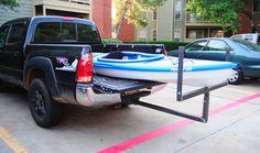 wooden kayak rack truck
