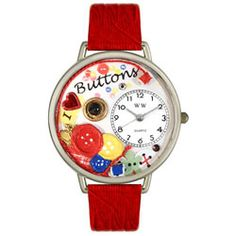 I Love Buttons Red Leather And Silvertone Watch #U0410011 - http://www.artistic-watches.com/2013/02/16/i-love-buttons-red-leather-and-silvertone-watch-u0410011-2/