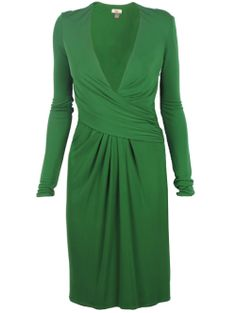 A2.2.1 Green Alternate Color Wrap Dress