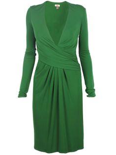 A2.2.1 Green Alternate Color Wrap Dress