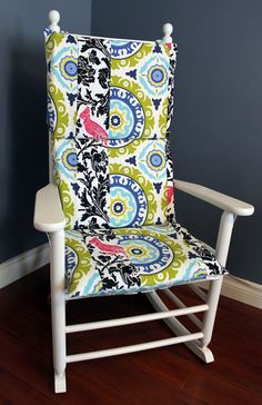 Rocking Chair Cushion   Baby Blue Geoprint by RockinCushions, $75.00