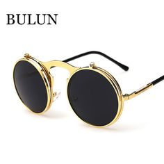 Retro Steampunk Round Sunglasses https://www.steampunkartifacts.com/collections/steampunk-glasses