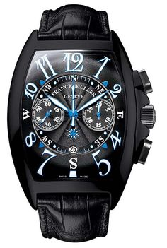 8080CCATNRMARACB часы Franck Muller The Casablanca Line Mariner Chronograph Black Steel