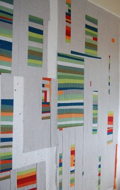 on the design wall.....modern quilt