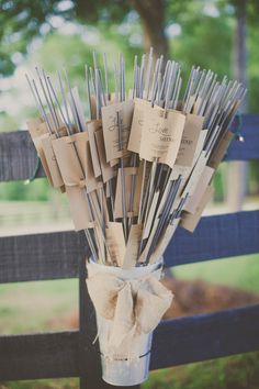 Sparklers for a wedding favor or any party favor especially for a 4th of July celebration!