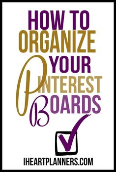 Tips and tricks to help you manage your pins and keep track of projects, recipes, decor and more. Learn how to organize your Pinterest boards to easily pin new items and easily find things you've already pinned.