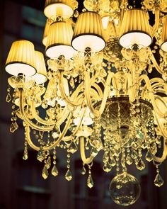 Glamorama - Fine art photograph - Chandelier in a New York City shop window via Etsy. Chandelier, New Interior Design, Decor, Yellow Interior, Beautiful Chandelier, Chandelier Lamp, Beautiful Lighting, Lantern Chandelier, Lights