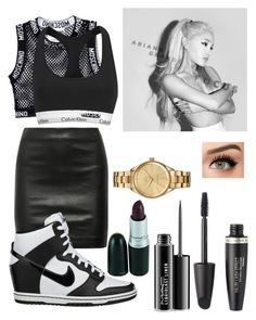 """COMMMMMAAZZZ"" by ambreignss ❤ liked on Polyvore featuring Moschino, Calvin Klein, The Row, NIKE, Max Factor, MAC Cosmetics and Lacoste"