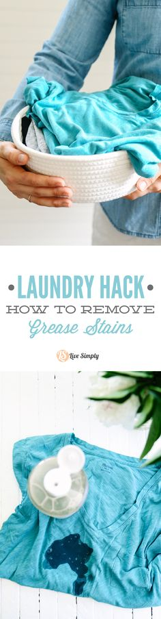 So easy! This trick always gets those stubborn grease stains out of my clothes.