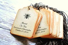 Honey Bee Tags Meant to Bee Favors Tags Wedding Bridal Shower