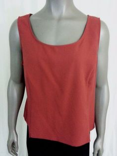 Perception Women's tank top size 18 sleeveless career casual work #Perception #KnitTop #Casual