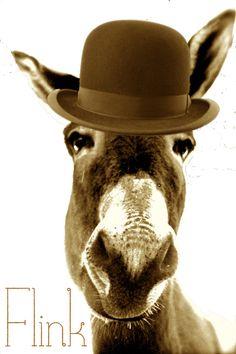 derby donkey art print by rout x flink society6 hee haw a donkey