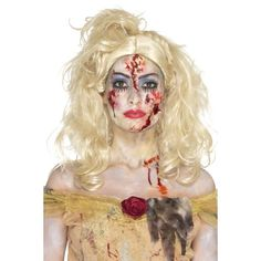 Wig, tights, make-up and shoes NOT included. The ladies Zombie Fairy Wig is blonde. the ladies Zombie Froze to Death Wig is white with snowflake jewels. The ladies Zombie Golden Princess Wig is brown. Pirate Halloween, Halloween Fancy Dress, Halloween Party, Halloween Costume Accessories, Halloween Costumes, Zombie Costumes, Pixie, Zombie Princess, Zombie Style