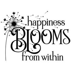 Silhouette Design Store: Happiness Blooms From Within Silhouette Design Store - Search Designs : dandelion
