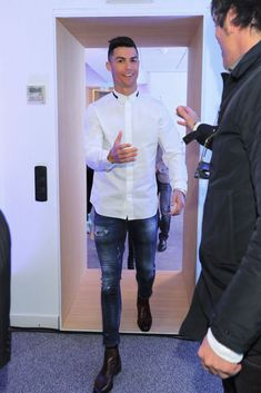 best=Cristiano Ronaldo and girlfriend Georgina Rodriguez look stylish as they attend the opening of his hair transplant clinic in Spain Photos Prom Dress UK Cristiano Ronaldo Style, Cristano Ronaldo, Cristiano Ronaldo Juventus, Ronaldo Real, Hair Clinic, Open Hairstyles, Hair Transplant, White Shirts, Girlfriends