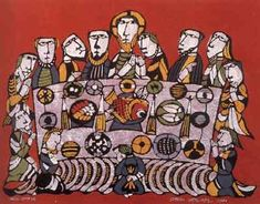 Christian Easter Art For Kids Canvases 54 Ideas Kandinsky, Maundy Thursday, Christian Artwork, Bible Illustrations, Kids Canvas, Biblical Art, Easter Art, Last Supper, Sacred Art