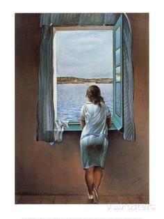 Person vid fönstret - Affischer av Salvador Dalí på AllPosters.se