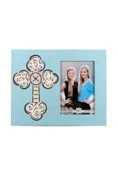 "Picture Frame holds a 3.5x5.75in. photo and has a blue cross.    Measures: 8"" x 10""   Cross Picture Frame by Avenue 550. Home & Gifts - Home Decor - Frames Kentucky"