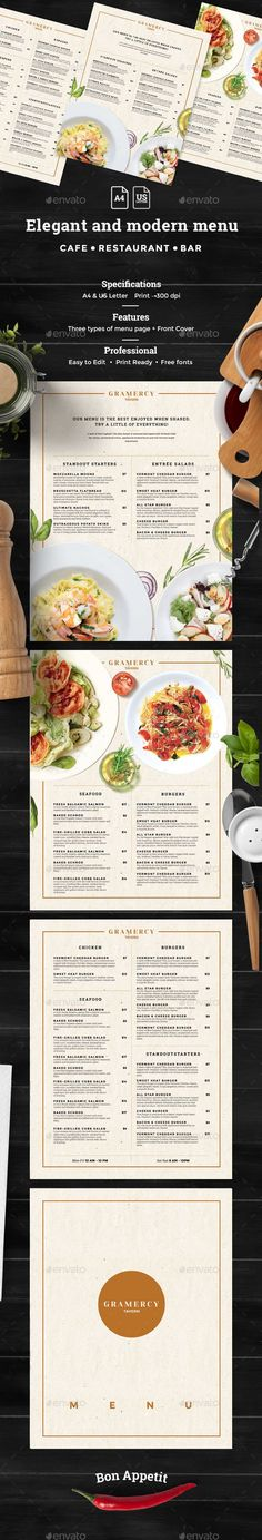 Modern Food Menu Food menu template, Modern food and Menu templates - lunch menu template free