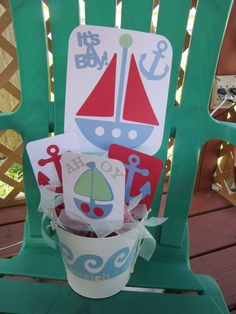Nautical Baby Shower It's A Boy Centerpiece Nautical by ItzMyParty