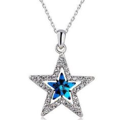 Wishing Star Crystal Necklace - $15.00
