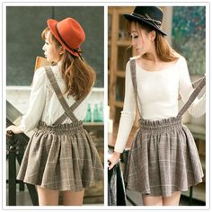 """Cute students tall waist braces skirt - Use the code """"batty"""" at Sanrense for a 10% discount!"""
