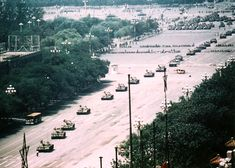 Tank Man, or the Unknown Rebel, is the nickname of an anonymous man who stood in front of a column of Chinese Type 59 tanks the morning after the Chinese military forcibly removed protestors from in & around Beijing's Tiananmen Square on June 5, 1989. The man achieved widespread international recognition due to the videotape & photographs taken of the incident. [Source: Wikipedia]