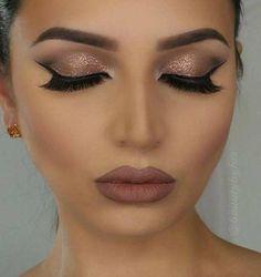 18 Charming Rose Gold Makeup Looks from Day to Night Bride Makeup, Prom Makeup, Wedding Makeup, Make Up Gold, Eye Make Up, Fast Makeup, Makeup Tips, Makeup Ideas, Flawless Makeup