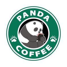 We Bare Bears (pan pan coffee) We Bare Bears Wallpapers, Panda Wallpapers, Cute Cartoon Wallpapers, Stickers Cool, Tumblr Stickers, Printable Stickers, Desenhos Cartoon Network, Panda Images, We Bear