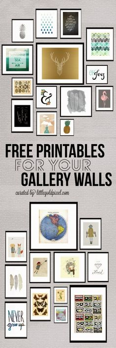 Tons of free printables // LITTLE GOLD PIXEL