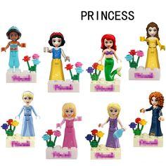 Figurines Model Building Smart New 8pcs Fairy Tale Princess Girl Legoinglys Model Building Kits Doll Figures Bricks Blocks Kid Friends Christmas Toys Ninjago