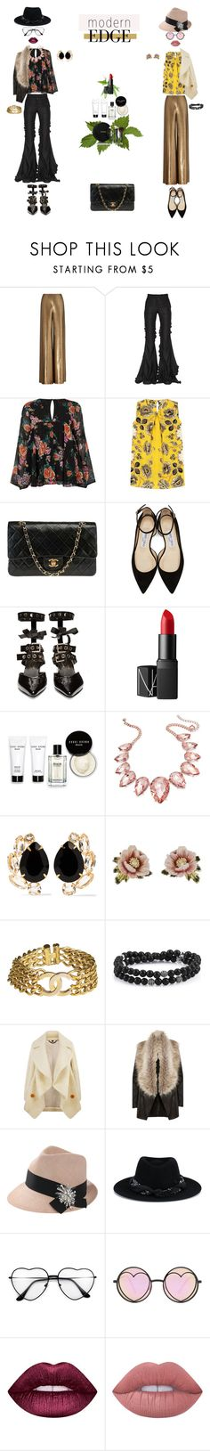 """modern.edge"" by k-hearts-a ❤ liked on Polyvore featuring Ralph Lauren, Marco de Vincenzo, River Island, Etro, Chanel, Jimmy Choo, Robert Clergerie, NARS Cosmetics, Bobbi Brown Cosmetics and Thalia Sodi"