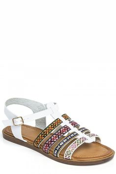 Needthatstyle - White Aztec Sandals, £16.00 (http://www.needthatstyle.com/white-aztec-sandals/)