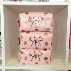 #Zoella has brought out a brand new beauty bag, #JustSayYes! #ZoellaBeauty http://www.feelunique.com/p/Zoella-Beauty-Just-Say-Yes-Beauty-Bag