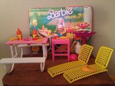 1988 Barbie Picnic Set 1988 7751 Arco Mattel Playset | eBay