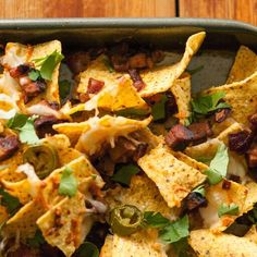 Barbeque brisket nachos