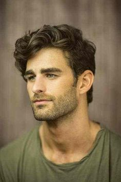 thick hair men long top curly