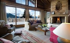 como decorar una casa de montaña