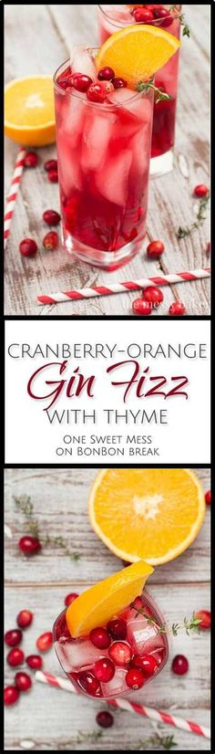 Cranberry Orange Gin Fizz | BonBon Break Cocktail Break,cocktail recipe,#Drinks