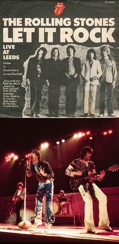 """The Rolling Stones """"Let It Rock"""" (1971) Greatest Rock Bands, Best Rock, Rock Posters, Concert Posters, Rolling Stones Album Covers, Live At Leeds, Ronnie Van Zant, Music Chords, Rock Videos"""