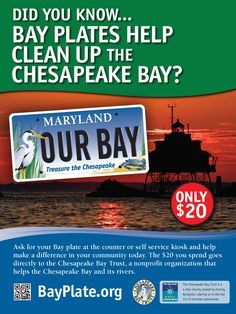 Bay Plates actually help clean up the Chesapeake! #SavetheBay #Conservation