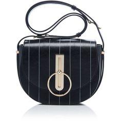 Compas Pinstripe Shoulder Bag | Moda Operandi ($1,950) via Polyvore featuring bags, handbags and shoulder bags