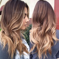 Fall hair color and style Ombré Hair, Hair Day, Hair Wigs, Neutral Blonde, Corte Y Color, Hair Color And Cut, Hair Colour, Hair Affair, Fall Hair